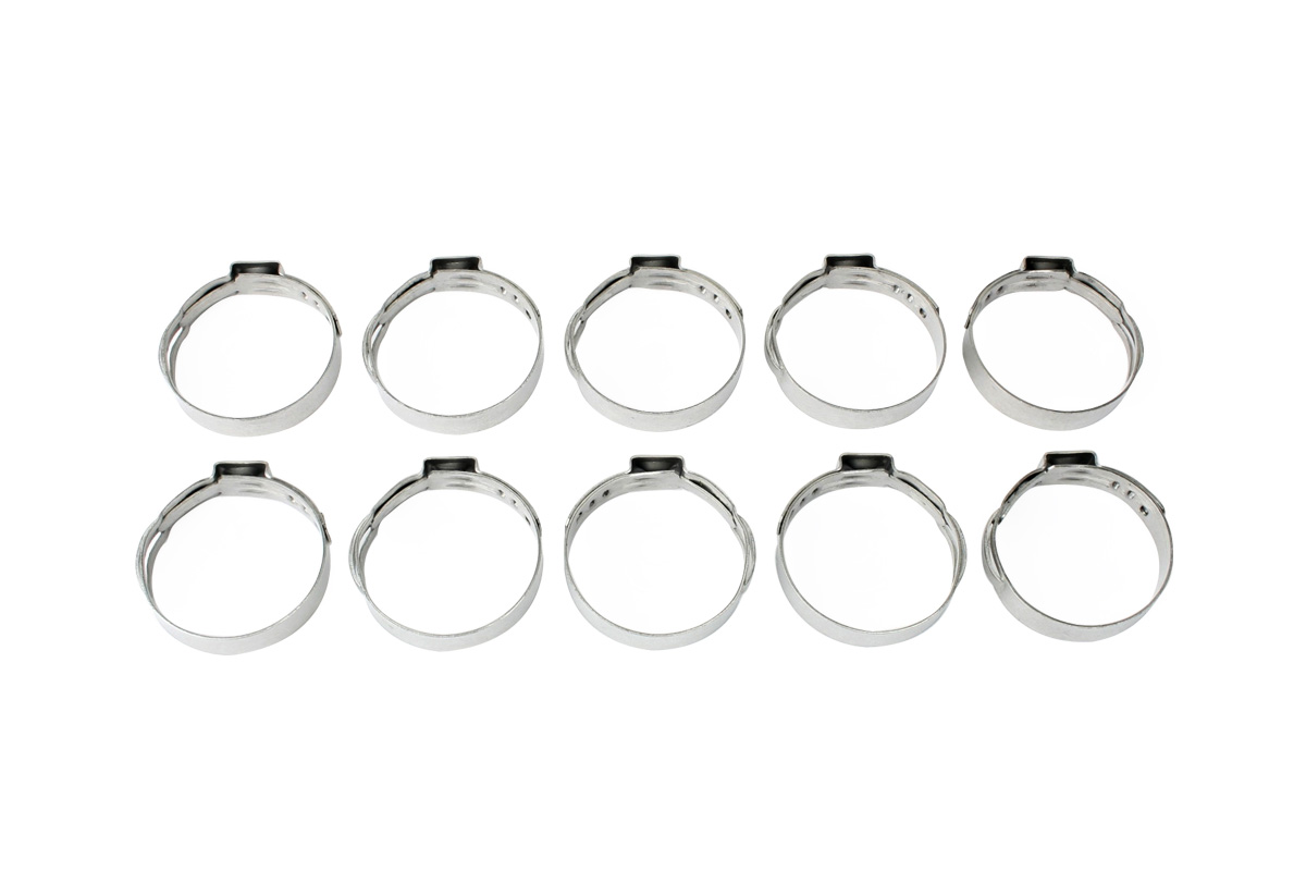 Stainless Steel Ear Clamp For Push Lock Hose 10 Pack