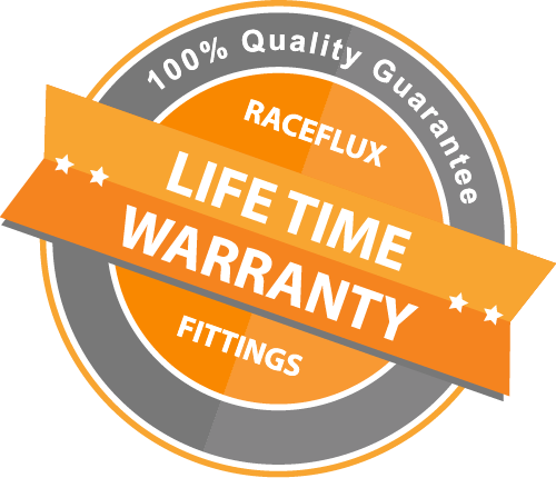 RaceFlux Lifetime Warranty Badge